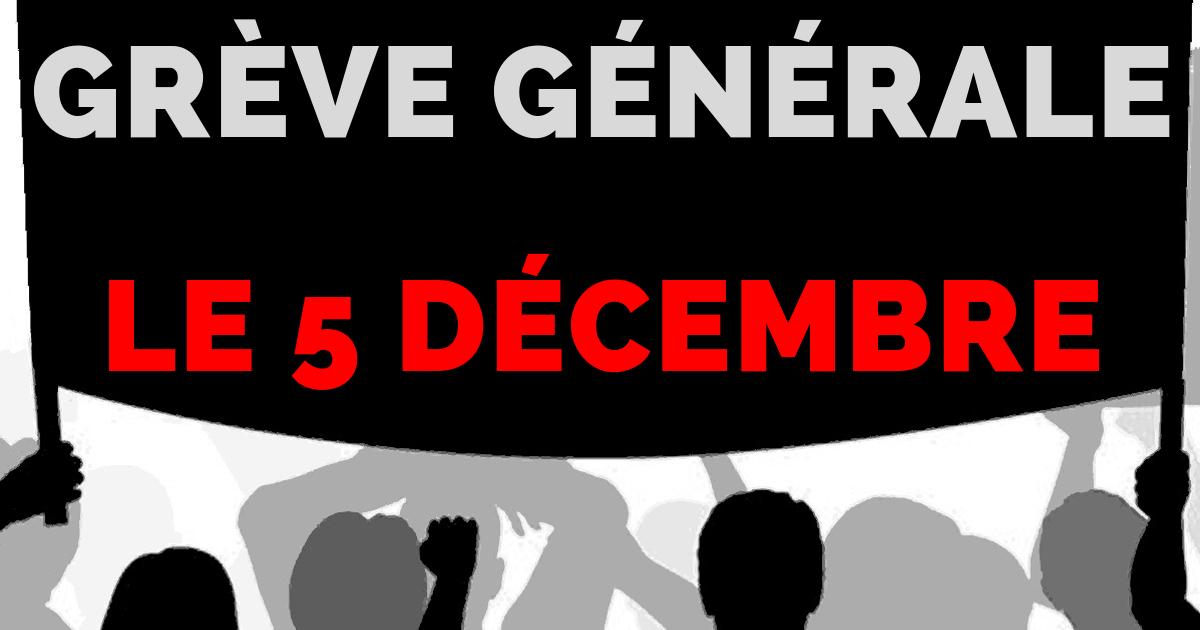 Grève du 5 décembre : quels sont vos droits si vous ne pouvez pas aller travailler ?
